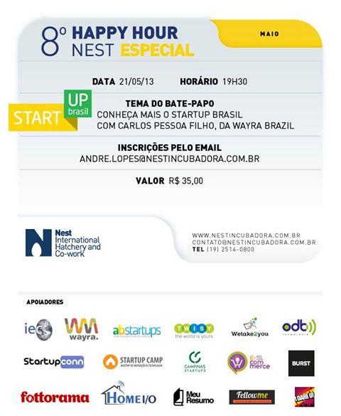 Nest Wayra Happy Hour Campinas startup